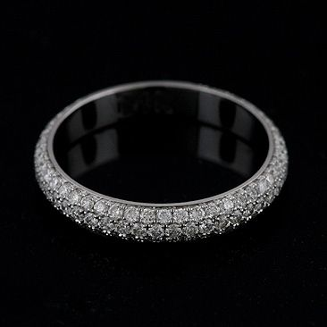 Best Diamond Eternity Bands | Pave diamond wedding ring, Diamond .