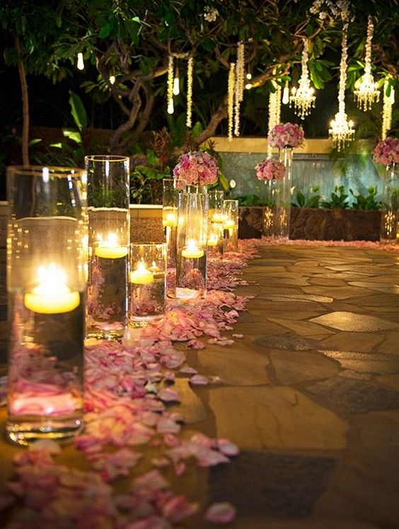 40 Romantic And Whimsical Wedding Lighting Ideas | Night time .