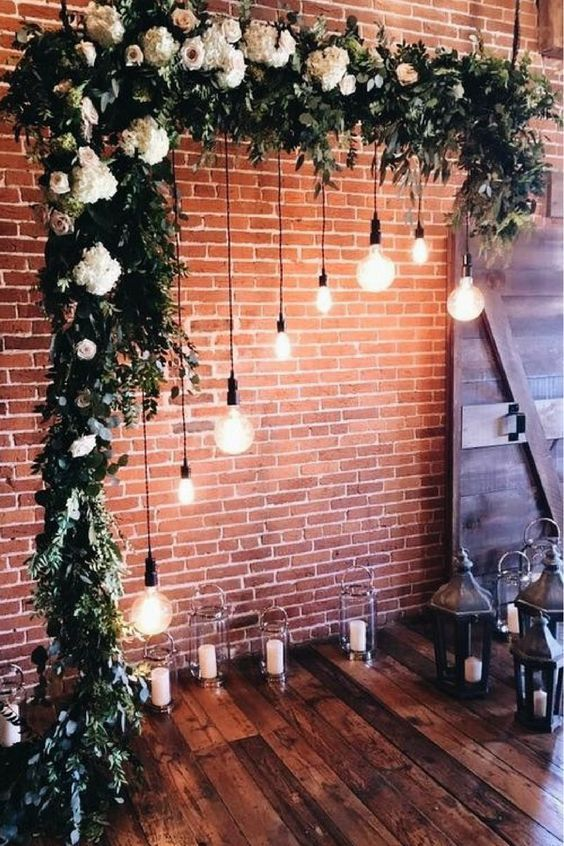 44 Sweet Romantic Wedding Decor Ideas - | Lights wedding decor .