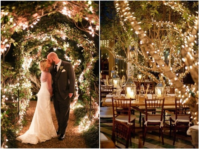 36 Romantic Wedding Lights Ideas You'll Love | Deer Pearl Flowe
