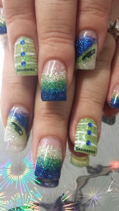 10+ Best Seattle Seahawks Nail Designs images | seahawks nails .