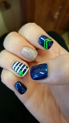 40 Best Seahawks nail art images | seahawks nails, seahawks nails .