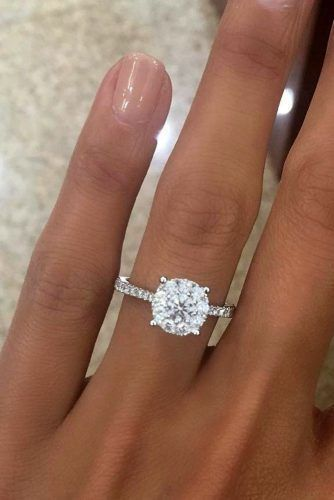 36 Top Round Engagement Rings | Dream engagement rings, Simple .
