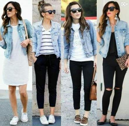 48 Best Ideas fashion outfits women jeans denim jackets   How to .