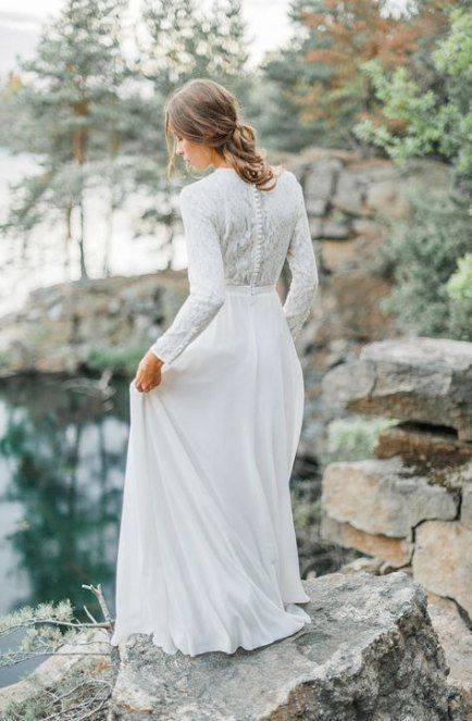Best Vintage Wedding Dress With Sleeves High Neck Ideas in 2020 .