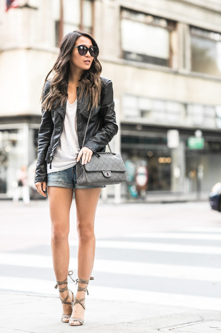 Wendy Nguyen shows us the best way to wear a leather jacket in .