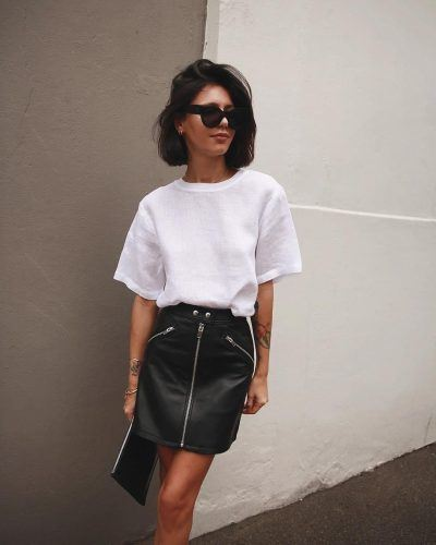 Leather Skirt Outfit Ideas - 30 Ways to Wear Leather Skir