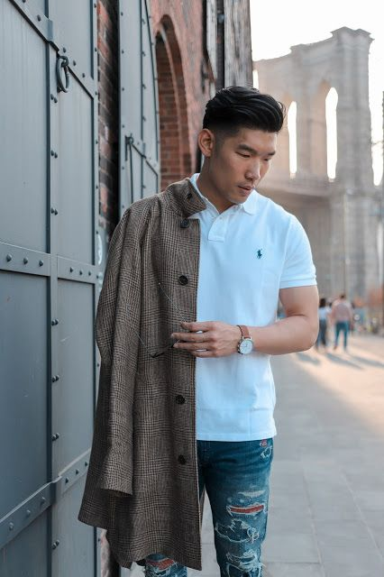 Spring Style: The Polo Shirt | Mens spring fashion, Ripped jeans .