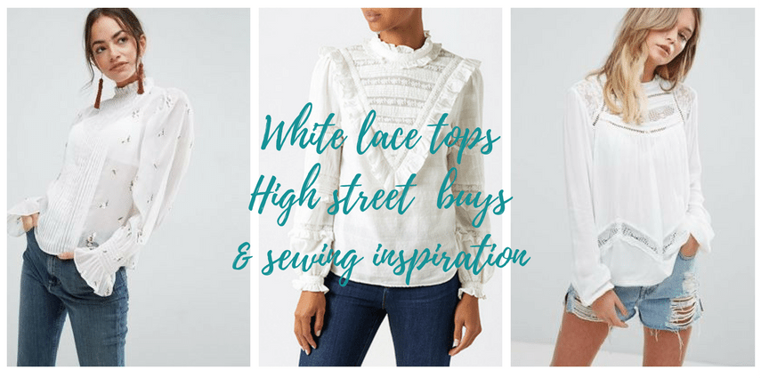 6 of the best white lace blouses on the high street today - Friday .