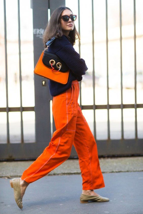 Orange is This Season's Hottest Color | Cool street fashion .