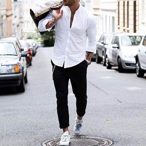 Black & White Outfit For Men Street Style Inspiration Dress like a .