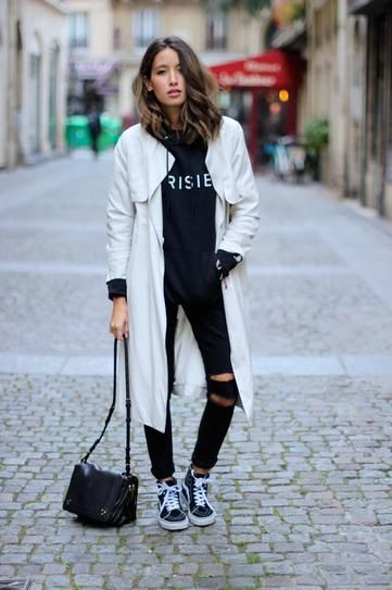 50 Foolproof Black and White Outfits | Trendy outfits winter .