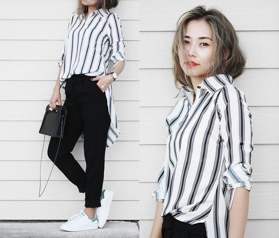 Trendy Black and White Outfits - Outfit Ideas HQ | White tops .