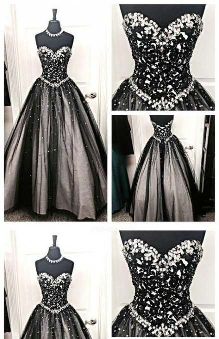 40+ ideas dress party black ball gowns | Prom dresses lace, Black .
