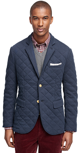 Brooks Brothers Two Button Quilted Blazer, $348 | Brooks Brothers .