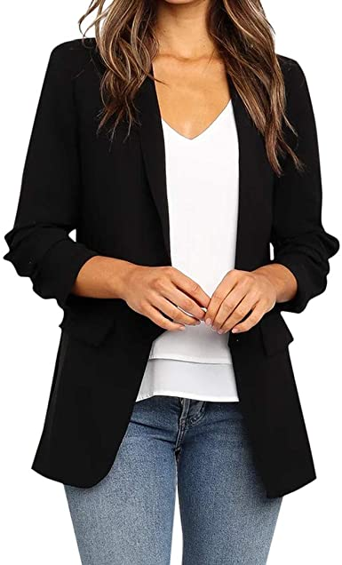 Blazers for Women Loose Blazer Top Long Sleeve Casual Jacket .