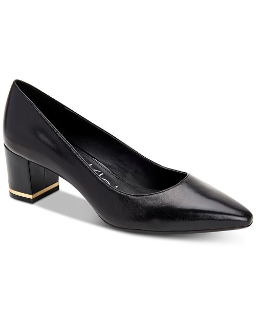 Calvin Klein Women's Nita Block-Heel Pumps & Reviews - Heels .
