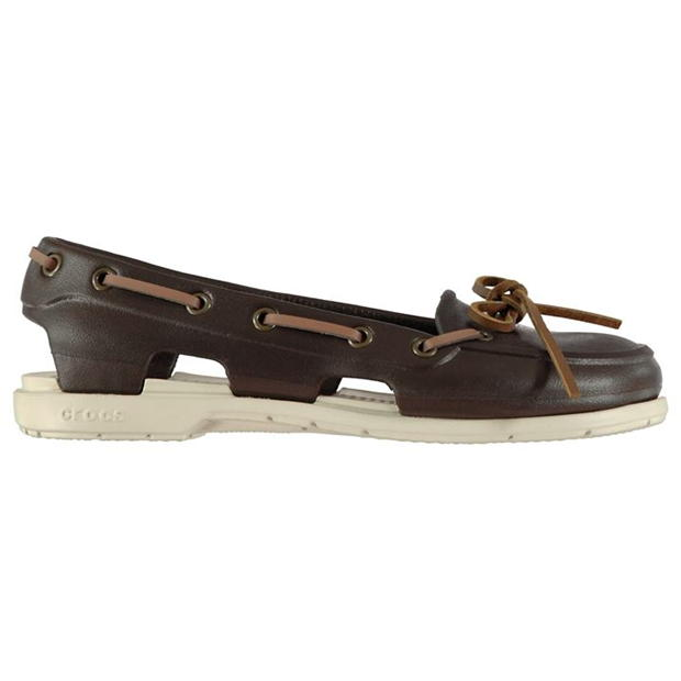 Crocs Ladies Beach Boat Shoes | Non-Marking Sole | Lace Up .