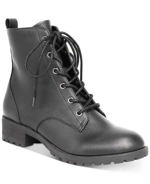 American Rag Women's Franie Combat Booties, Created for Macy's .