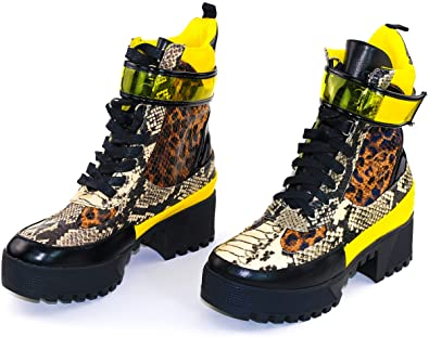 Amazon.com | Cape Robbin Future Wave Combat Boots for Women .