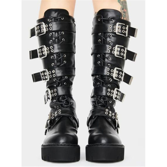 China Winter Women Boots Belts Buckles Straps Fashion Ladies Long .
