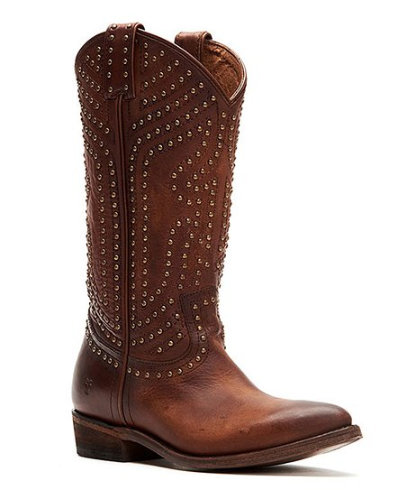 Frye Cognac Billy Stud Pull-On Leather Boot - Women | Best Price .