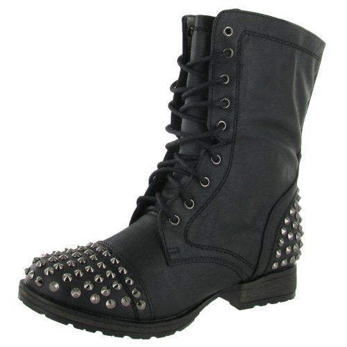 Boots with studs for women in 2020 | Combat boots, Studded combat .