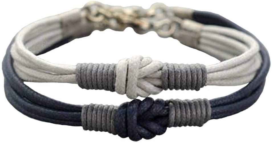 Amazon.com: Couples Bracelet, Love Knot Long Distance Bracelet Set .