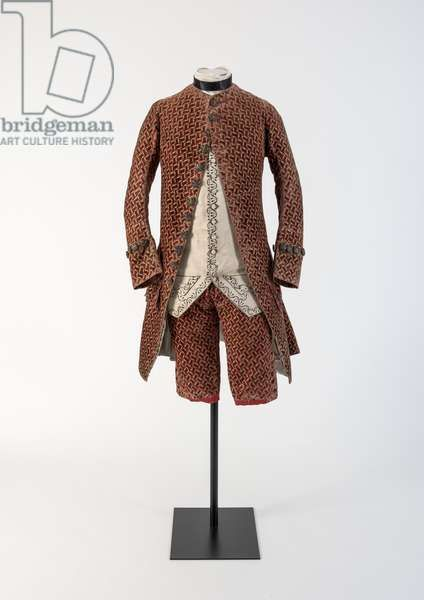 Man's red woven velvet coat and breeches, 1750s (velvet) | Museum .