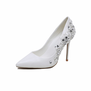 Jeweled Diamond Crystal Wedding Shoes Women Dress Pumps Ladies .