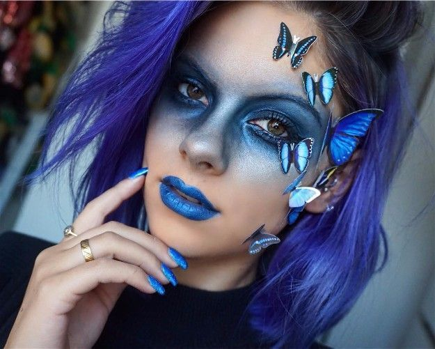 Butterfly Fantasy Make Up | Carnival makeup, Butterfly makeup .