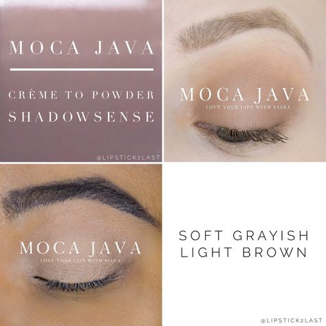 Moca Java Shadowsense. Grayish brown eyeshadow. Anti-aging makeup .