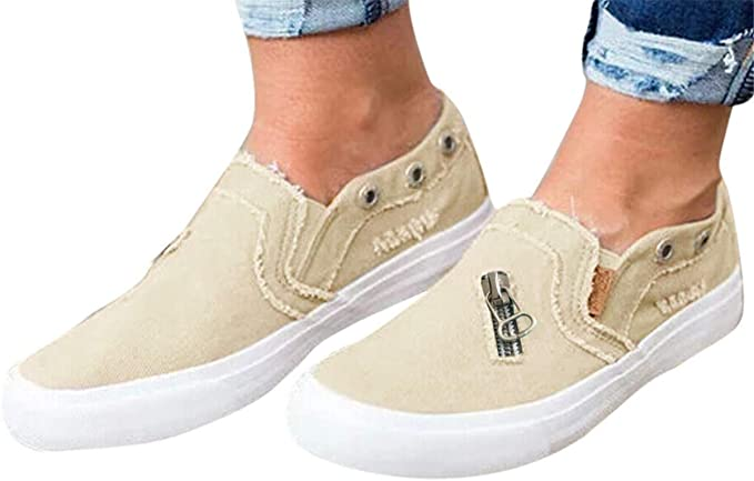Amazon.com: Womens Canvas Shoes Flat Sports Running Shoes Summer .