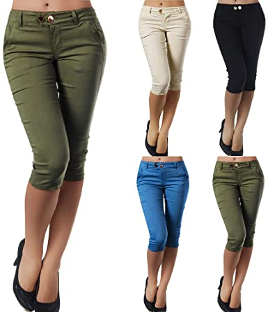 Womens Pants, Links Capri Pant Casual Trousers Slim Fit Super .