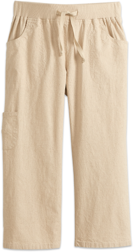 Pull-On Capri Pants | Cropped Cotton Trouse