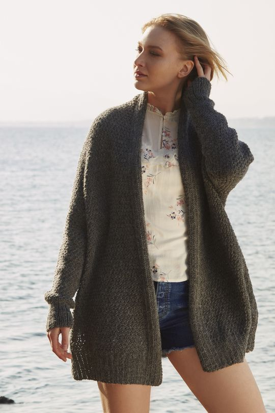 Free Knitting Pattern for an Oversized Relaxed Cardigan | Oversize .