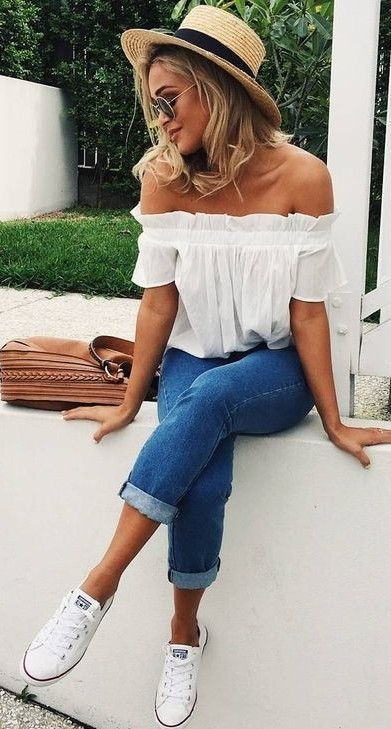 Trending And Girly Summer Outfit Ideas with jeans (With images .