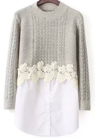 14 Stylish Cheap Holiday Outfit Ideas Low in Budget | Lace sweater .