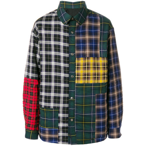 Lanvin Patchwork Checked Shirt, $1,664 | farfetch.com | Lookast