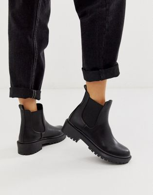 RAID Radar Black Chunky Chelsea Boots | Chelsea boots outfit .