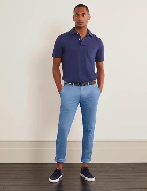 Lightweight Slim Chinos - Storm Blue | Boden