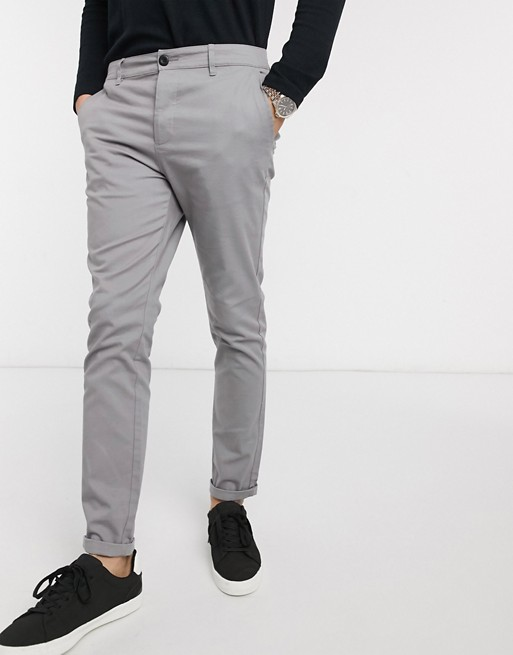 ASOS DESIGN skinny chinos in light gray | AS
