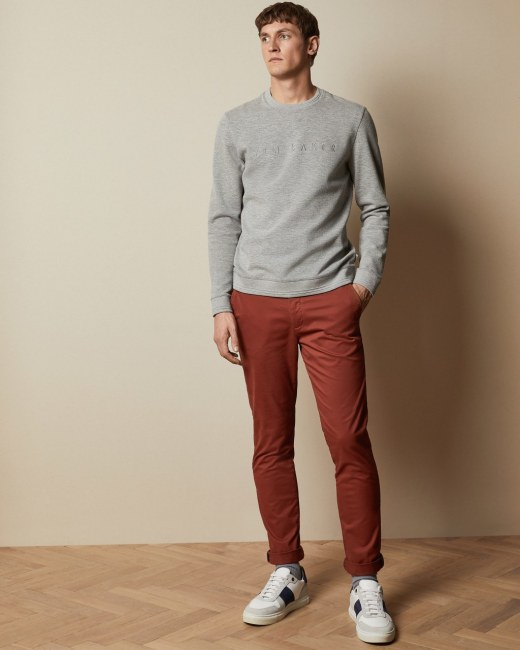 Super slim fit chinos - Dark Orange | Tapered Fit Chinos | Ted Bak