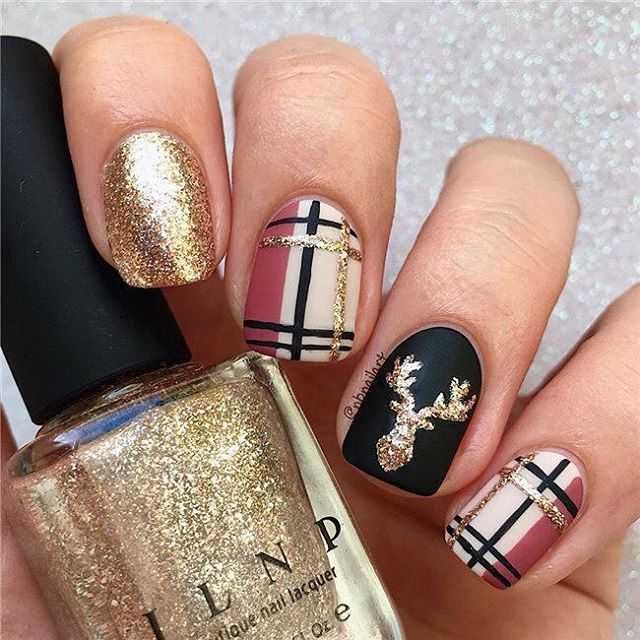 54 festive christmas nail art ideas, winter nail art ideas .
