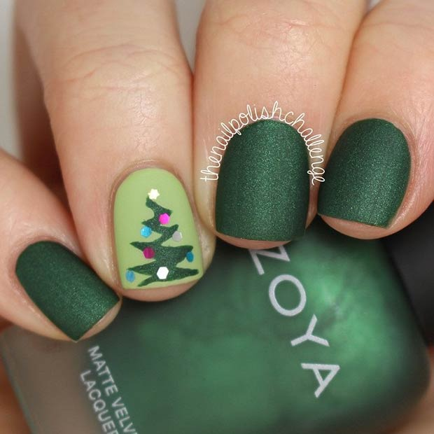 51 Christmas Nail Art Design Ideas – Page 11 – Foliver bl
