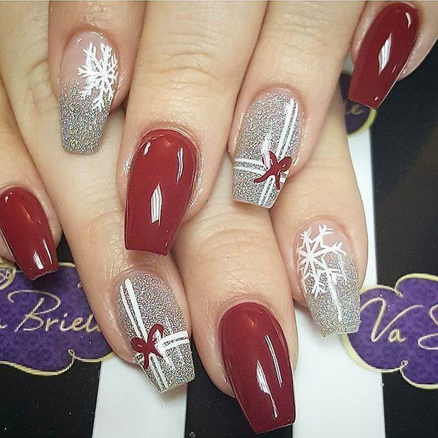 73 The Latest Nail Art Design Ideas for Christmas 2018 | Christmas .