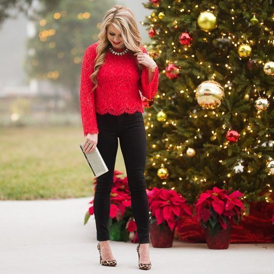 Christmas Party Fashion Style in 2020 | Holiday outfits women .