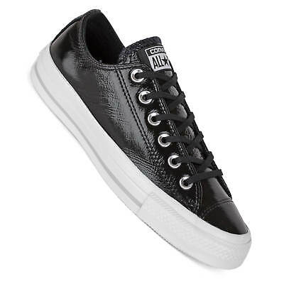 Converse Ladies Chucks Lo Black Shiny Ctas Ox Patent Leather .