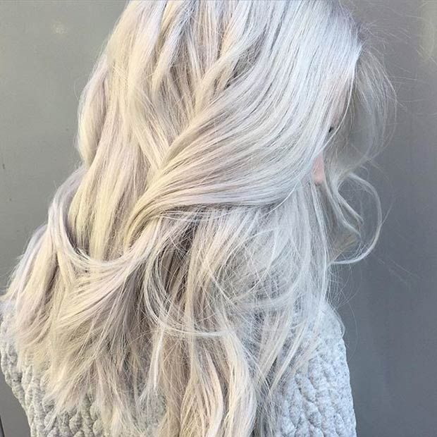 56 Ways To Cinch Rose Silver and Gold Hair | Frisuren, Haarfarben .