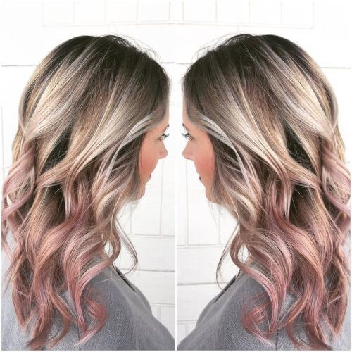 Cinch Rose Silver and Gold Hair